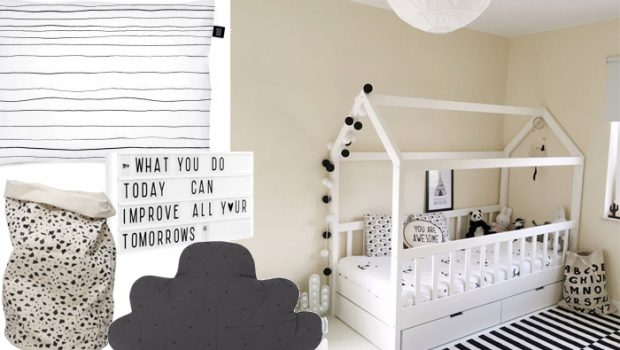 Zwart Wit Kinderslaapkamer : Monochrome kinderkamer is nog steeds een trend! kinderkamer