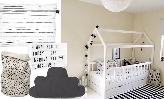 Monochrome kinderkamer is nog steeds een trend!   Kinderkamer styling Girlslabel