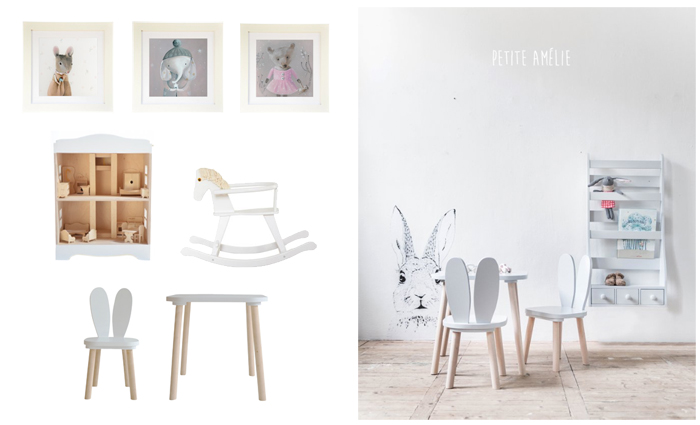 Petite amelie, kinderkamer accessoires, meubeltjes