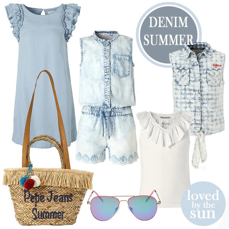 denim meisjeskleding, zomer mode meisjes, meisjeskleding