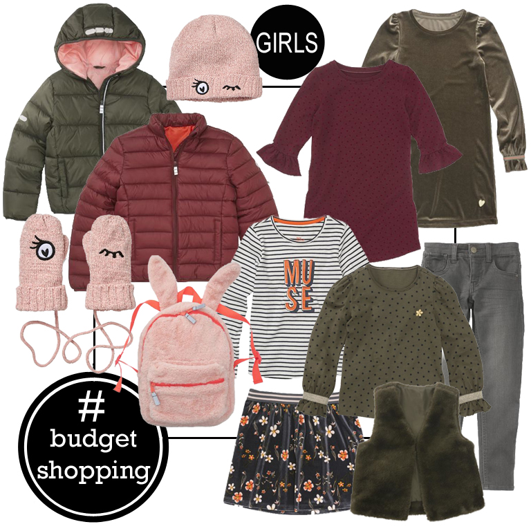 goedkope meisjeskleding, budget tip kinderkleding