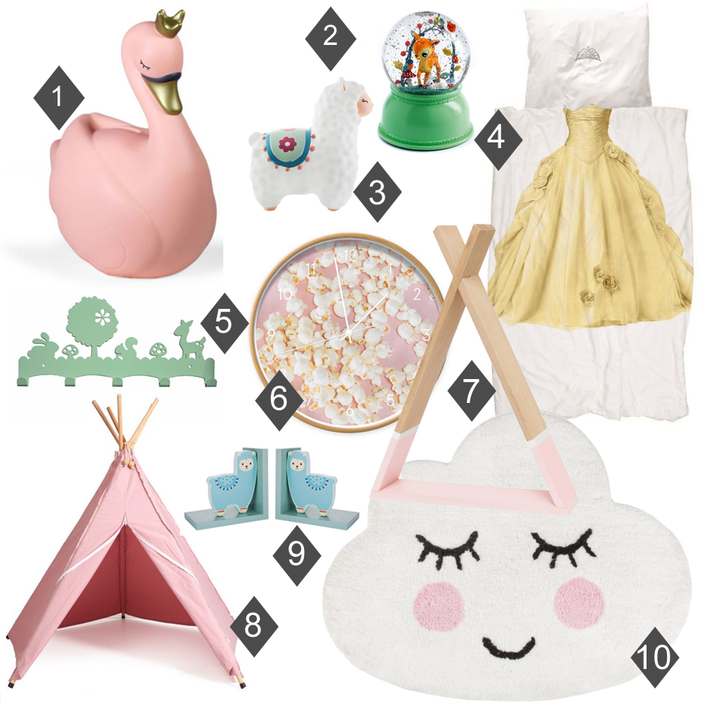 Kidsdecoshop, kinderkamer accessoires, leuke meisjesspullen