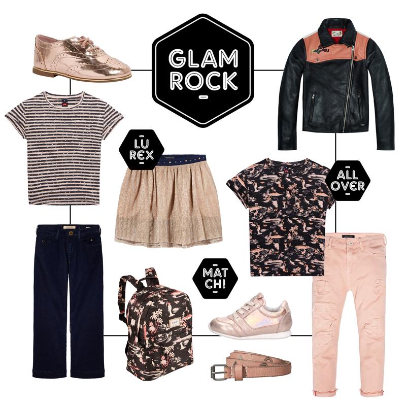 Glam rock, girlsfashion, kindermode 2018, scotch rbelle