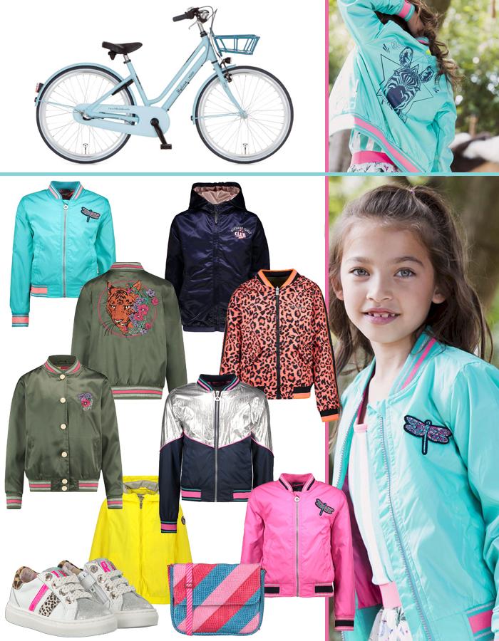 meisjes zomerjas, girlslabel, meisjesjassen, kleurrijke jassen