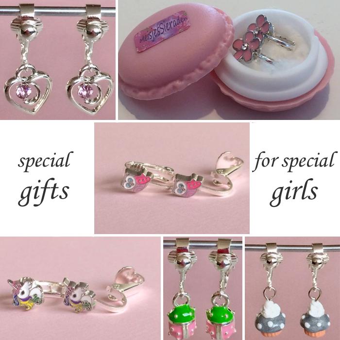 meisjessieraden, sieraden voor meisjes, clipoorbellen, oorbellen meisjes, meisjesoorbellen