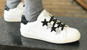 hippe meisjesschoenen, studio maison, witte meisjessneakers