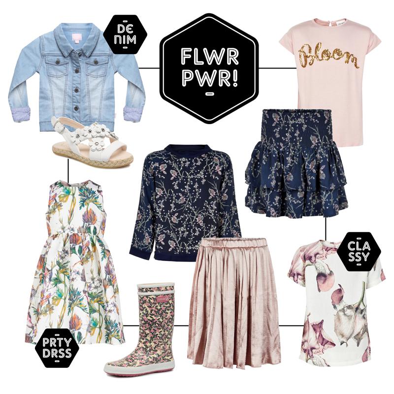 get the look, shop the look, girls look, meisjeskleding, hippe meisjeskleding, bloemenprints, girlslabel, meisjeskleding webshop