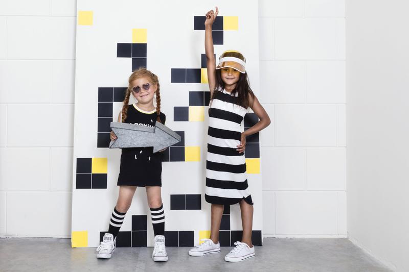 lucky no7, zwart wit meisjeskleding