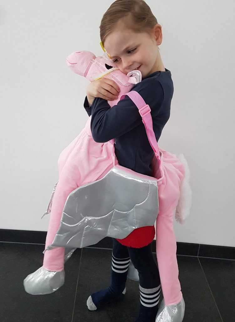 unicorn kostuum, ride on unicorn