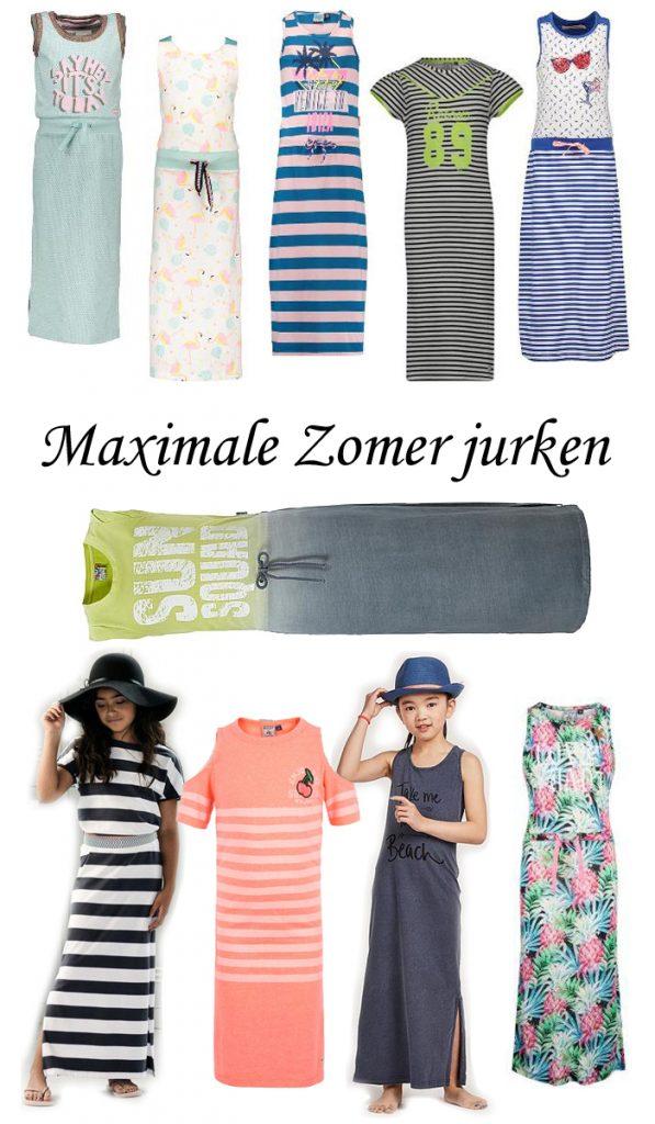 Maxi dress voor meisjes, meisjes zomerjurkjen, lange jurken