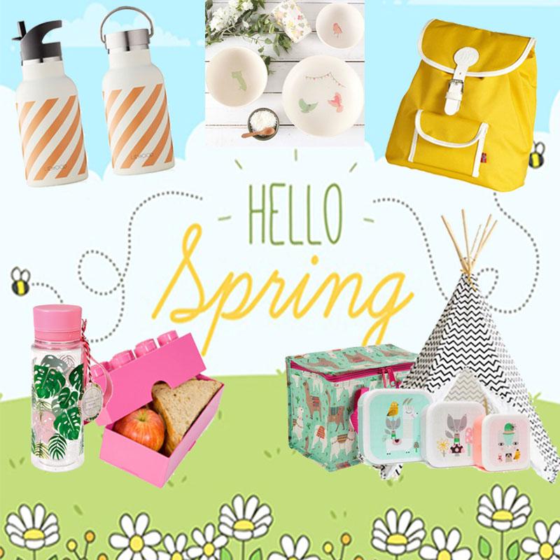 Picknicken met kinderen, de gele flamingo, tipi, lunchbox, drinkfles kinderen, snackbox, koeltas, rugzak kinderen