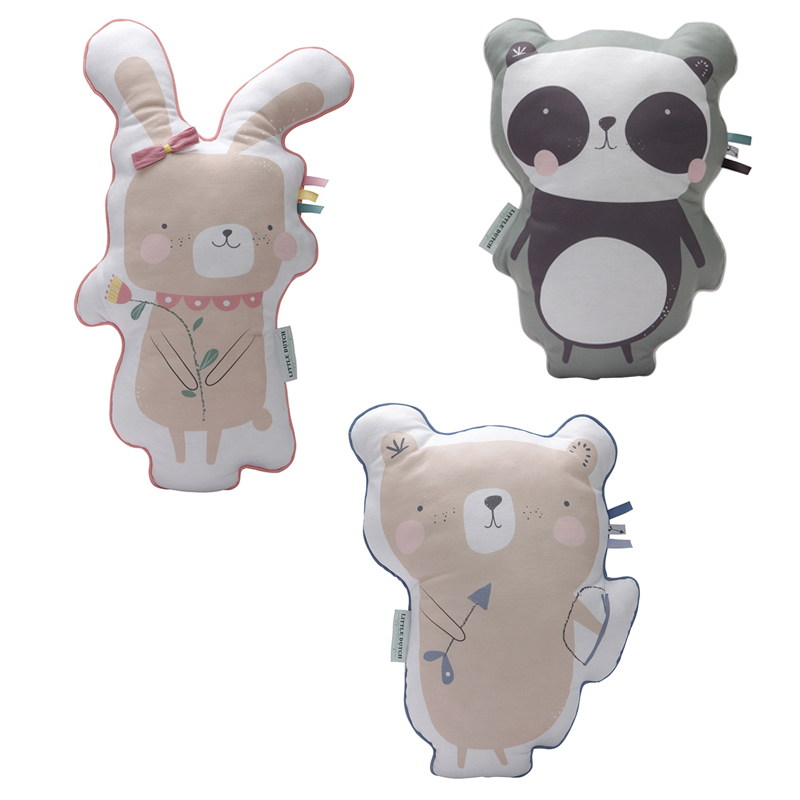 knuffelkussens, kinderkussens, panda kussen