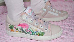 braqeez meisjesschoenen, kinderschoenen met flamingo