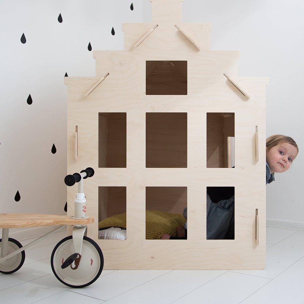 houten speelgoed, houten speelhuisje