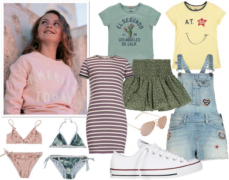 kinderkleding america today, stoere meisjeskleding, zomerkleding