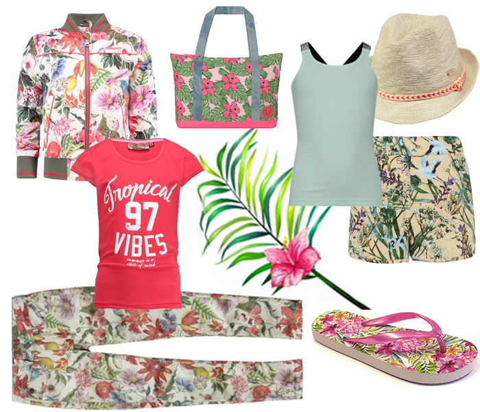 kindermode trends lente zomer 2018, tropical trends