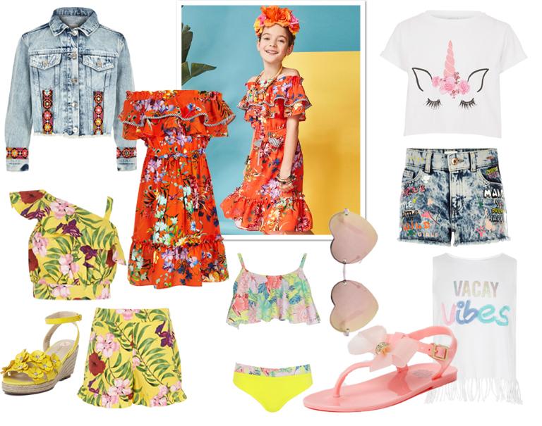 trendy meisjeskleding, betaalbare meisjeskleding, meisjes zomerkleding