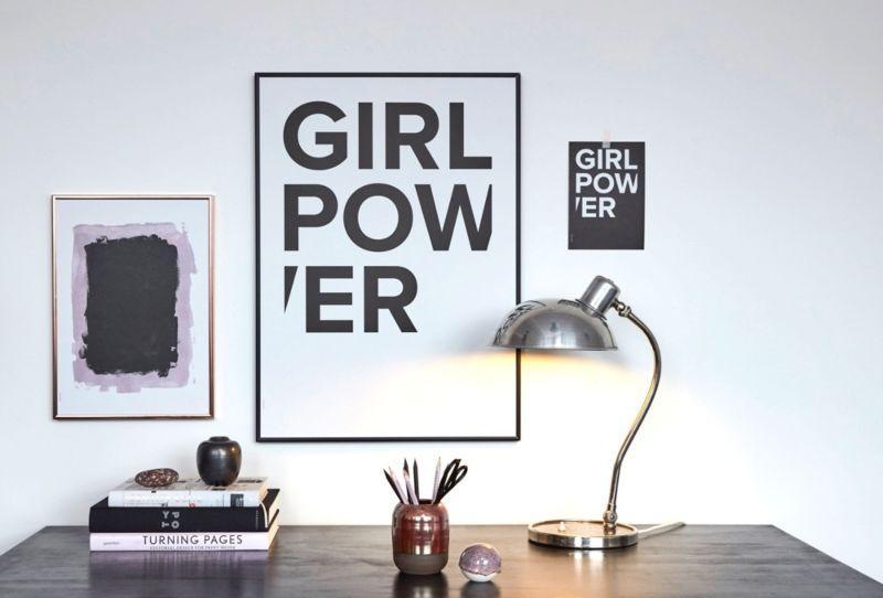 tienerkamer meisjes, poster girlpower