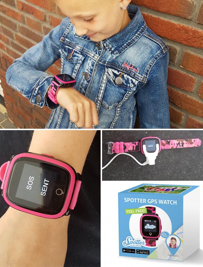 GPS horloge kind, kinderhorloge met GPS tracker, spotter