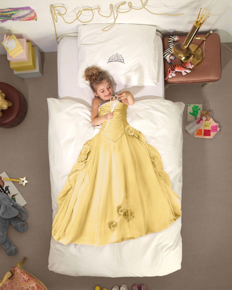 tom en lilly, snurk meisjesdekbed, snurk dekbed, prinsessen dekbedovertrek, prinsessen beddegoed, meisjes bed, Meisjes-dekbedovertrek-Princess-yellow1