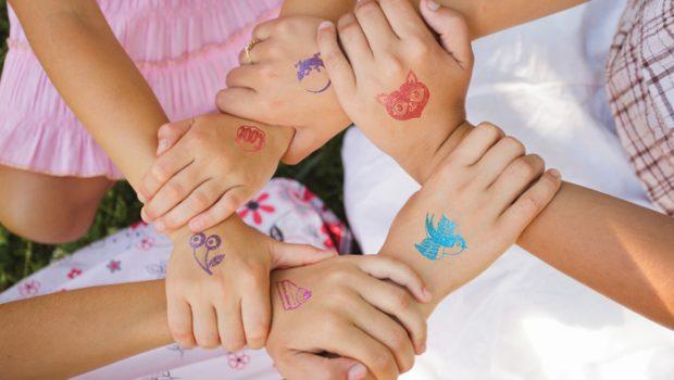 glittertattoos, kindertattoos, kinder tattoos, meisjescadeau, girlslabel