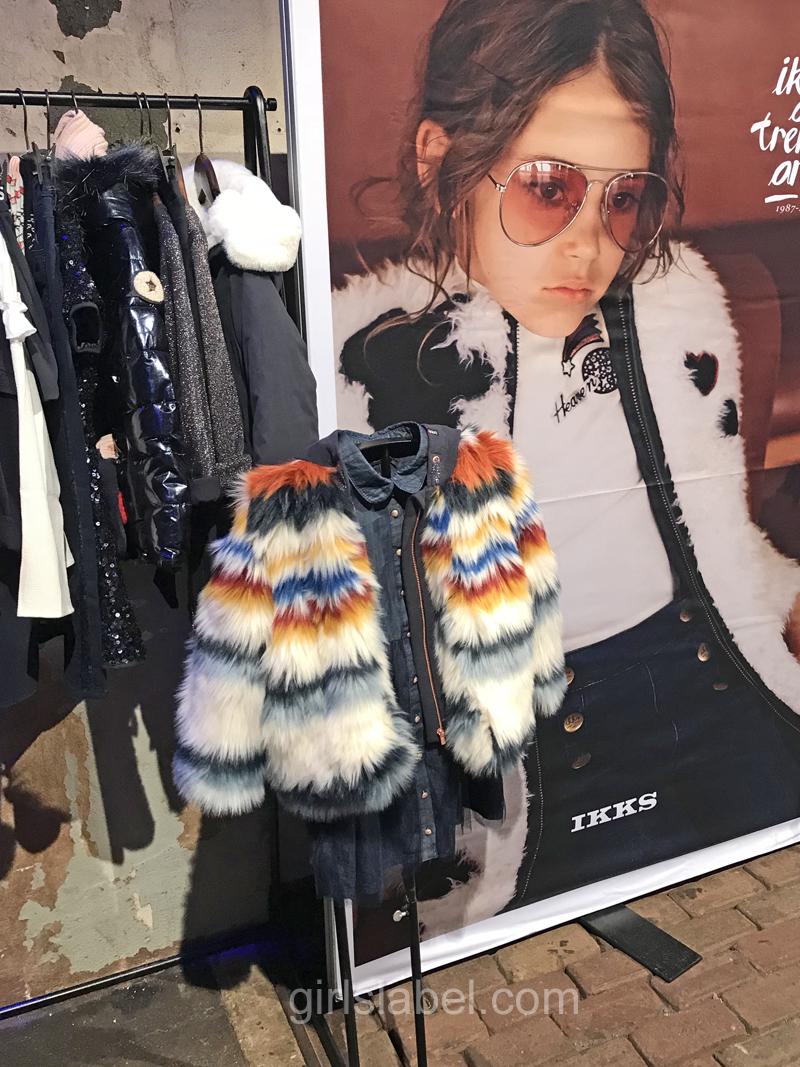 IKKS kinderkleding, hippe meisjeskleding, kindermode trends winter 2018, girlslabel, kindermodeblog, bontjas meisje