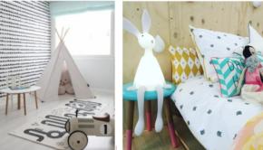 jutenjuul, kinderkamer, meisjeskamer, kinderlamp, konijnlamp, loopauto, wigwam, tent, vloerkleed kinderkamer