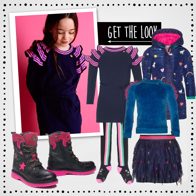 Back to School outfits , get the look meisjes, mimpi, mimpi winter 2018-2019, mimpi jurkje, mimpi winterjas