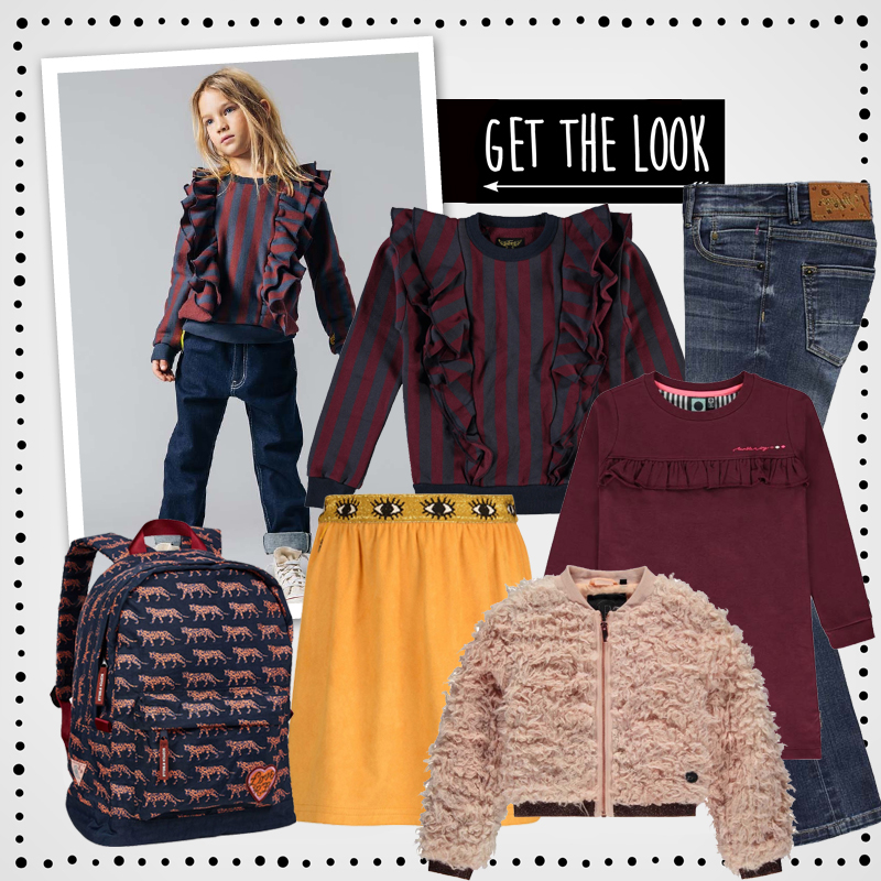 Back to School outfits , shop the look, hippe meisjeskleding, finger in the nose, kindermodetrends