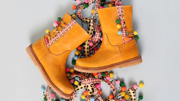 Meisjesschoenen, meisjeslaarzen, gele laarsjes, shoesme winter