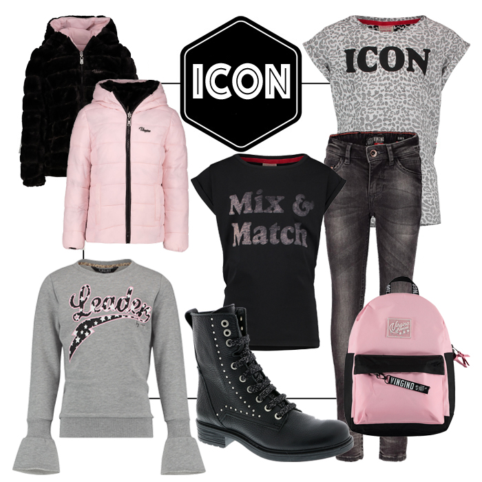 icon, back to school kleding, back to school outfits, meisjeskleding, stoere meidenkleding, tienerkleding, vingino 2018-2019, kindermodeblogs, shopping collage