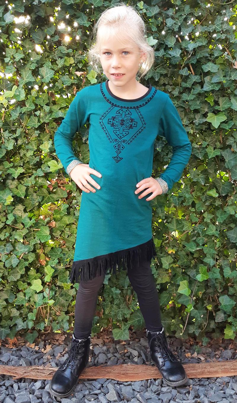 lavalava review, meisjesjurk, petrol blauwe jurk