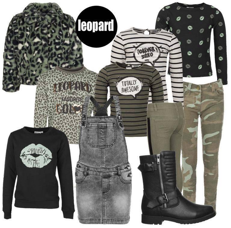 kinderkleding low budget, leopard print, kinderkleding luipaard print, backtoschool, eerste schooldag outfit