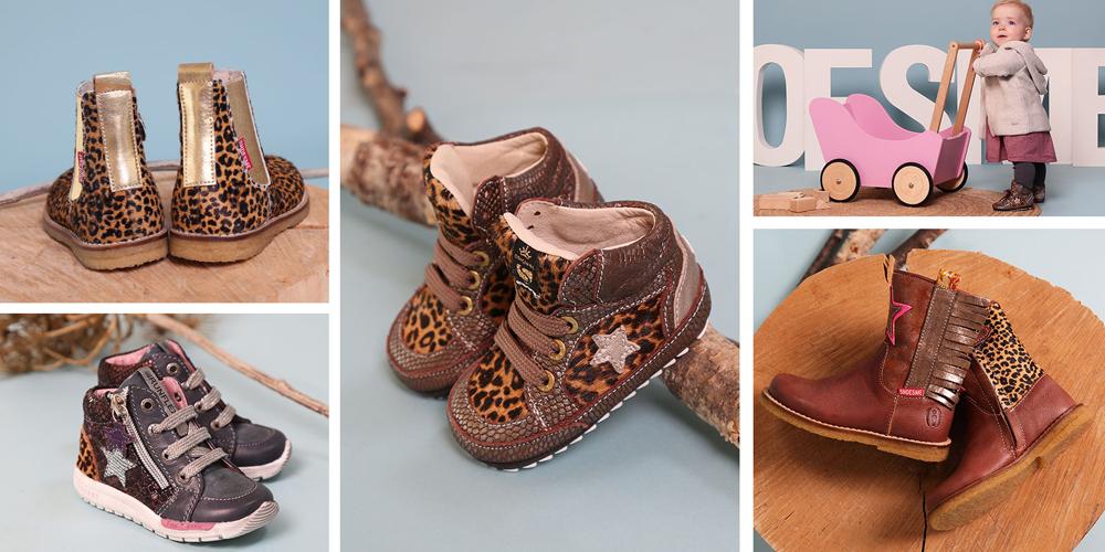 schoenen met panterprint, kinderschoenen met luipaard print, meisjeslaarsjes met panterprint