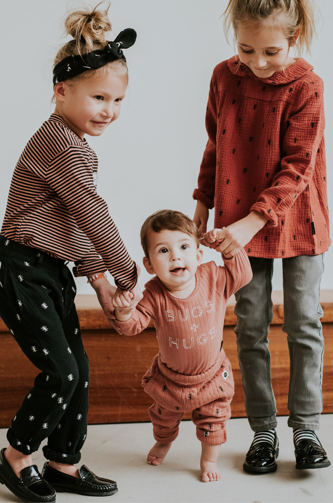 sproet & sprout, sproet sprout kinderkleding, bruin oranje kleding