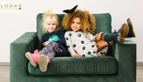 trendy kniekousen, looxs revolution, looxs kniekousen, looxs meisje, fluwelen rokje, groene rok