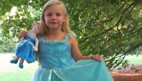 souza, popje, prinsessenjurk, blauwe verkleedjurk, verkleden, prinsessenmeisje, souza for kids