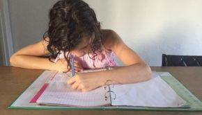 De franse basisschool, huiswerk maken