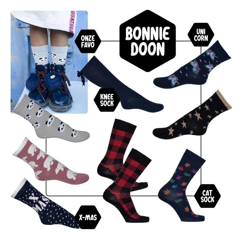 Bonnie Doon sokken, kindersokken zonder naad, bonnie doon winter 2018, girlslabel
