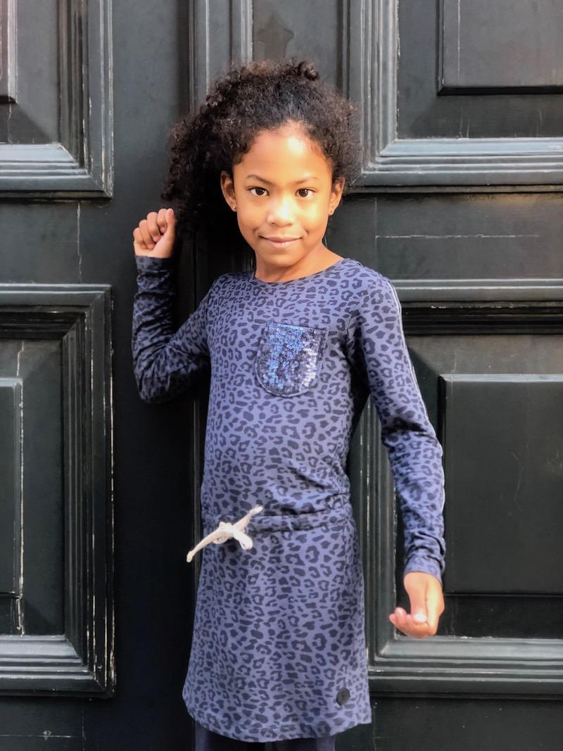 blauwe luipaardprint, levv luipaardprint, levv jurk, levv girls, style labels