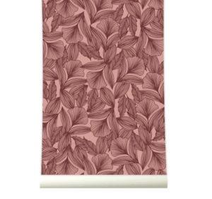 behang roomblush, floral behang, roze behang, bloemetjes behang, make over tienerkamer
