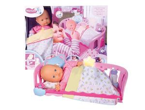 babypop wieg, meisjesspeelgoed, babypop