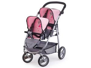 babypop tweeling kinderwagen, meisjesspeelgoed