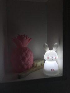 het ideale nachtlampje, olala, olala nachtlamp, nachtlamp konijn