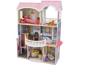 groot poppenhuis, houten poppenhuis, meisjesspeelgoed, cadeau meisje