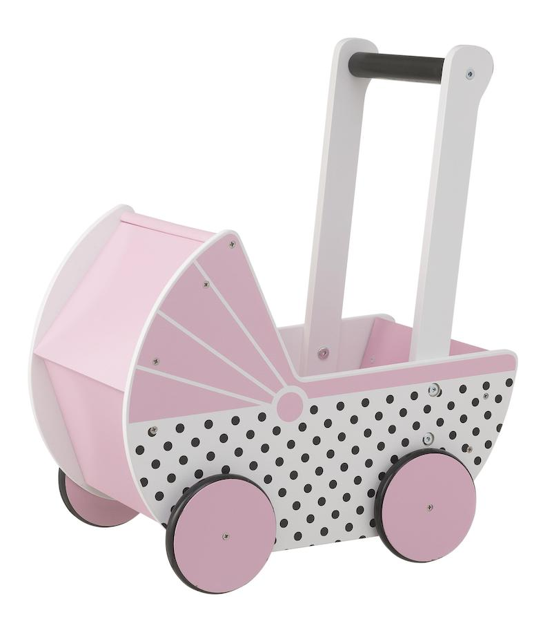 houten speelgoed meisjes, houten meisjesspeelgoed, houten poppenwagen