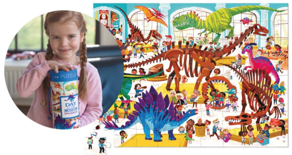 cadeau meisje 4 jaar, puzzel meisje, puzzel meisje 4 jaar, puzzel koker, puzzel dinosaurus