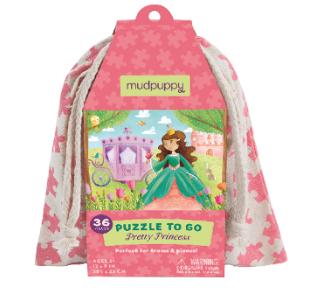 mudpuppy, mudpuppy puzzle, cadeau meisje 4 jaar, puzzel meisje, meeneem puzzel, puzzel tasje