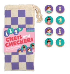 mudpuppy, mudpuppy schaakspel, cadeau meisje 4 jaar, schaken kind, dammen kind, schaken meisje, schaken reisspel