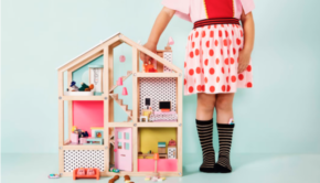 hema poppenhuis, hema houten speelgoed, mooiste houten speelgoed, houten speelgoed meisjes, houten meisjesspeelgoed, houten poppenhuis